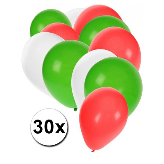 30x Ballonnen in Bulgaarse kleuren