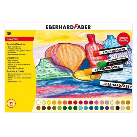 36x oliepastelkrijt Eberhard Faber 11mm