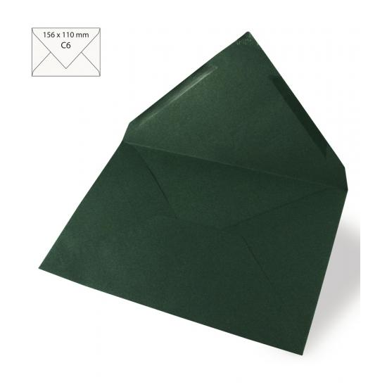 5 donkergroene enveloppen voor A6 kaarten
