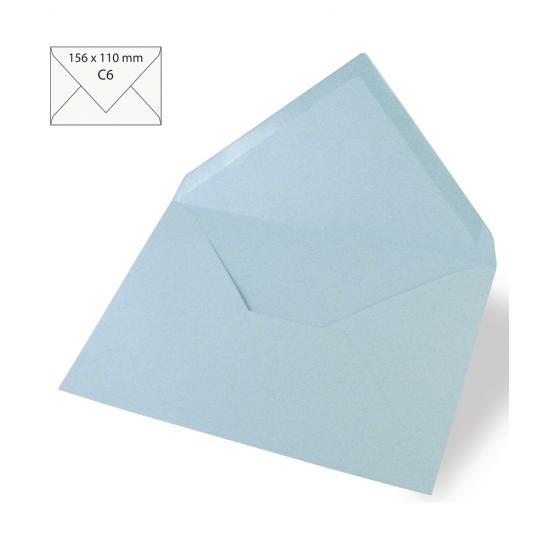 5 lichtblauwe enveloppen voor A6 kaarten