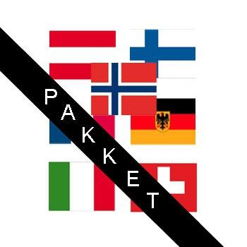 Apres ski landen stickers