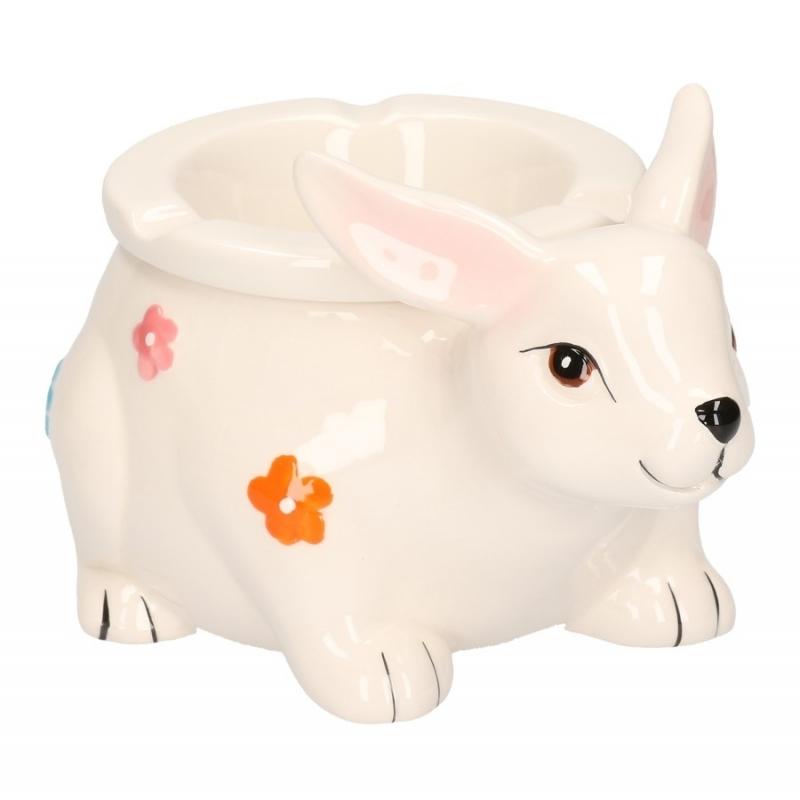 Asbak wit konijn 15 cm