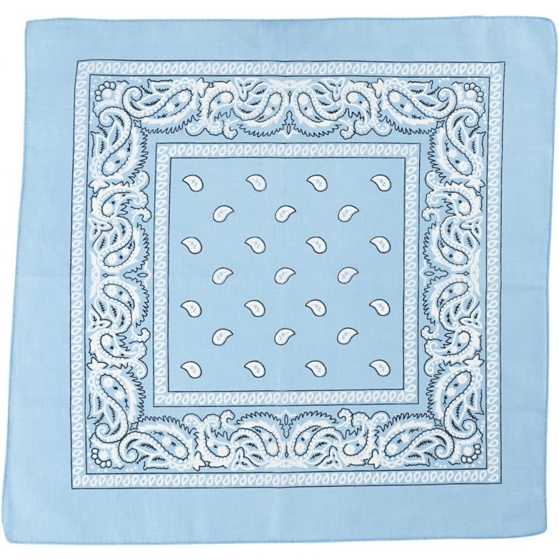 Bandana lichtblauw 55x55 cm