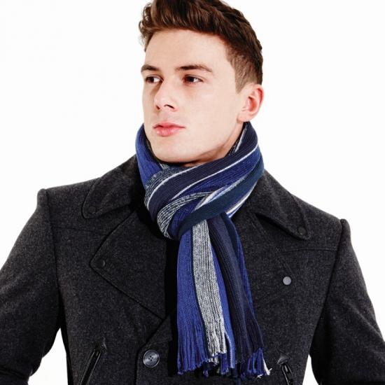 Beechfield sjaal blauw grijs
