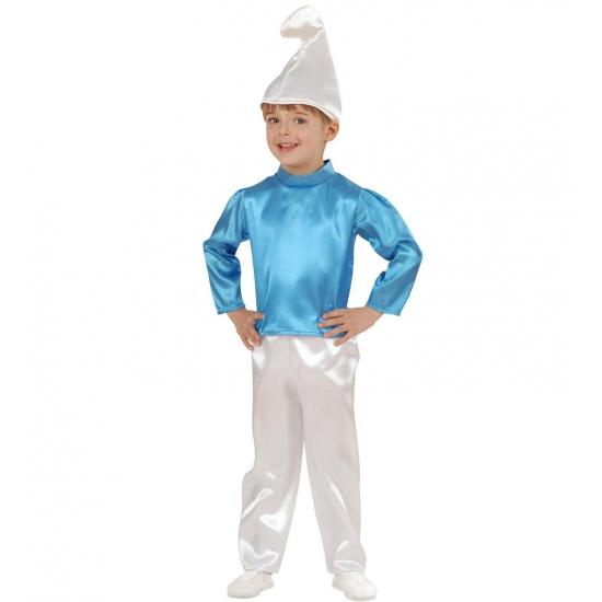 Blauw kabouter kostuum kinderen