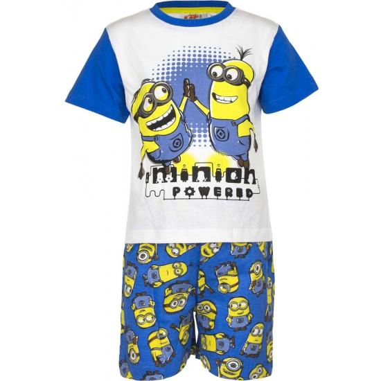 Blauwe Minion powered korte pyjama jongens