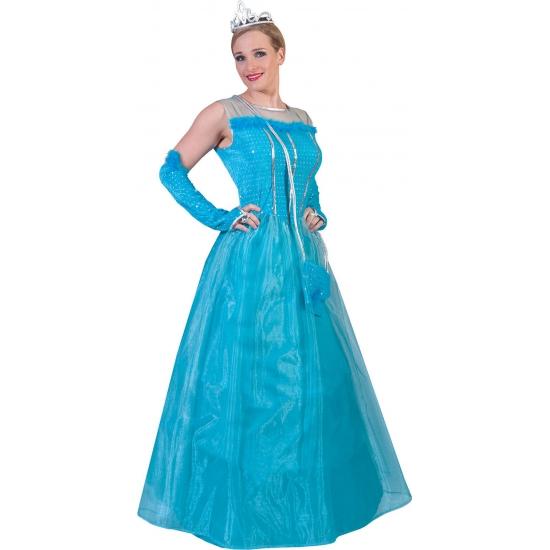 Blauwe prinsessenjurk voor volwassenen