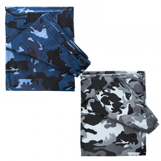 Camouflage afdekzeil 6 x 3,5 meter