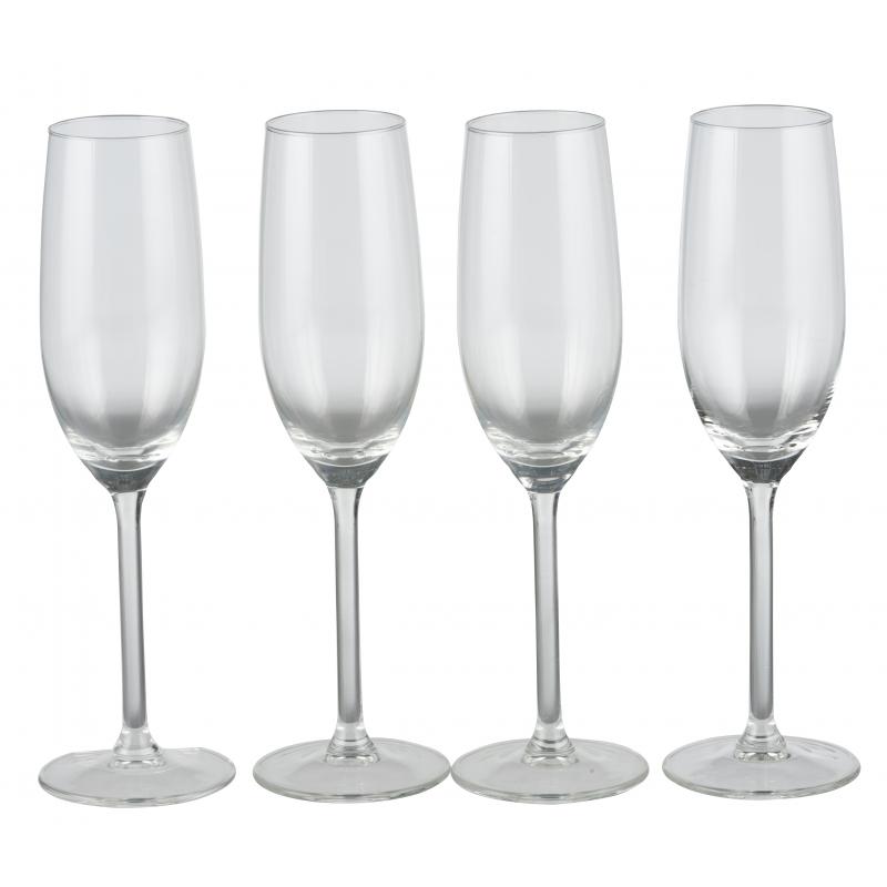 Champagneglazen 4 stuks 21cl