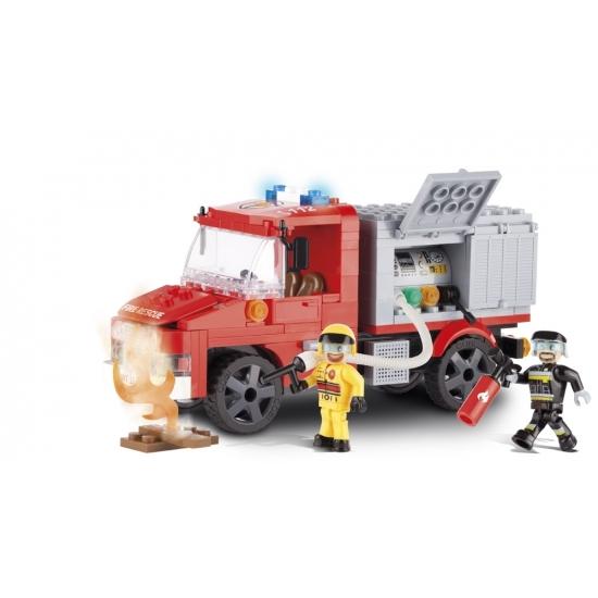 Cobi brandweerwagen bouwstenen set