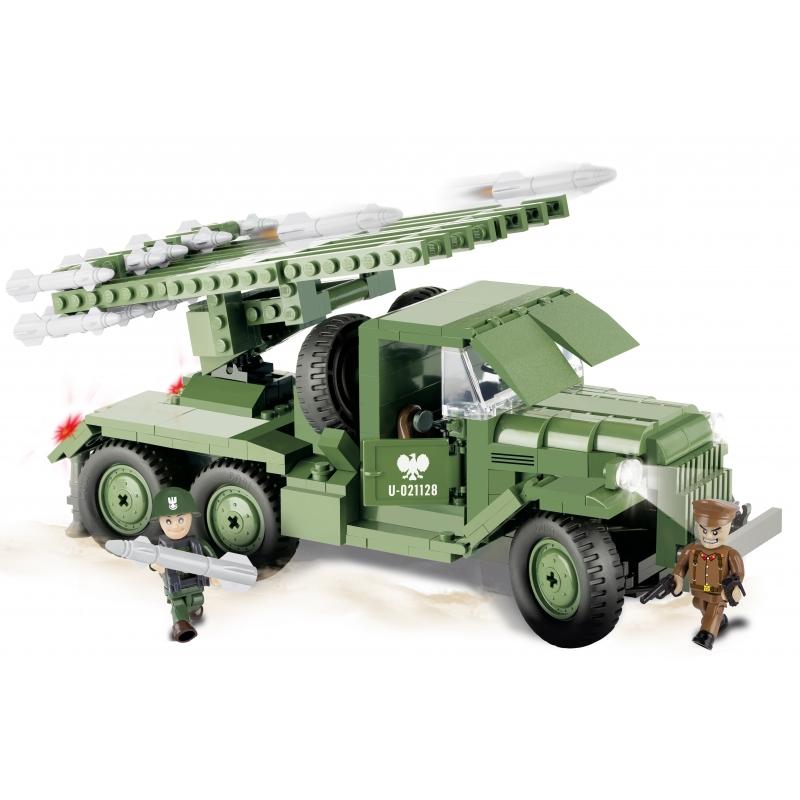Cobi raketwerper Katyusha BM 13 tank bouwstenen set