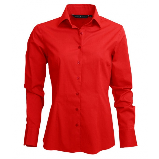 Dames overhemd rood