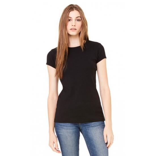 Dames t shirt ronde hals zwart