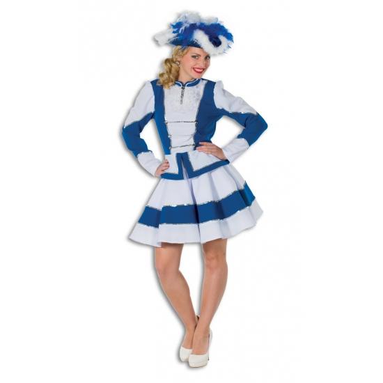 Dansmarieke kostuum blauw met wit