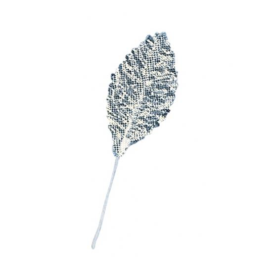 Decoratie bladeren zilver