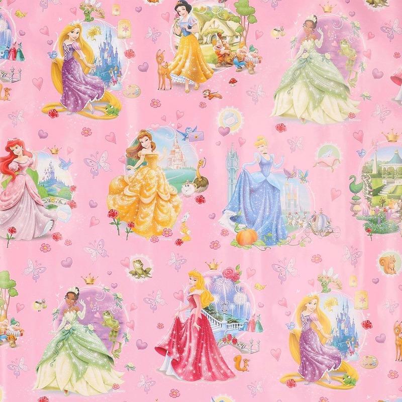 Disney inpakpapier Prinsessen in jurk 200 x 70 cm