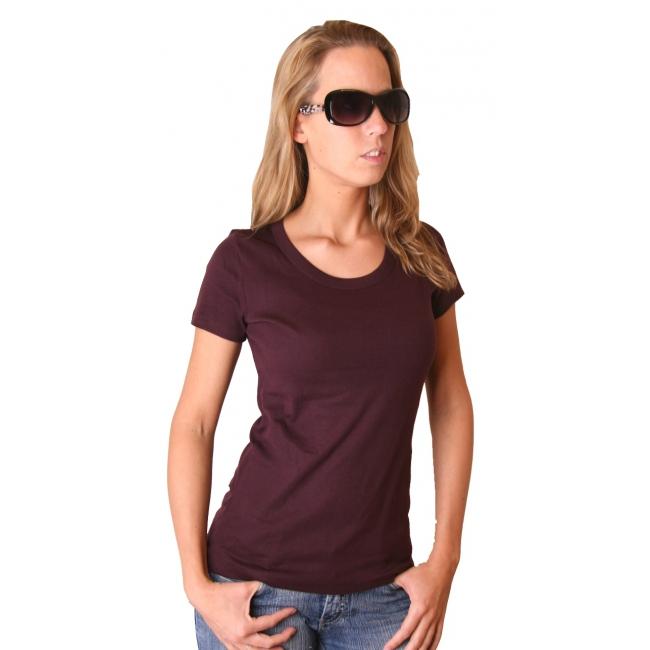 Donkerrood dames t shirt Bella