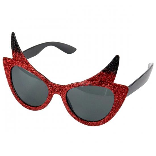 Duivel zonnebril met glitters