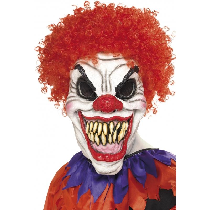 Eng clown masker met haar