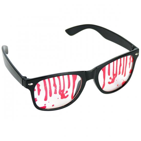 Feestbril met bloederige glazen