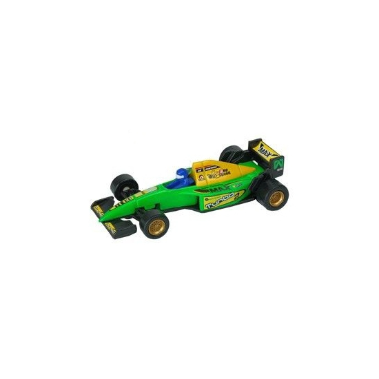 Formule 1 racewagen groen