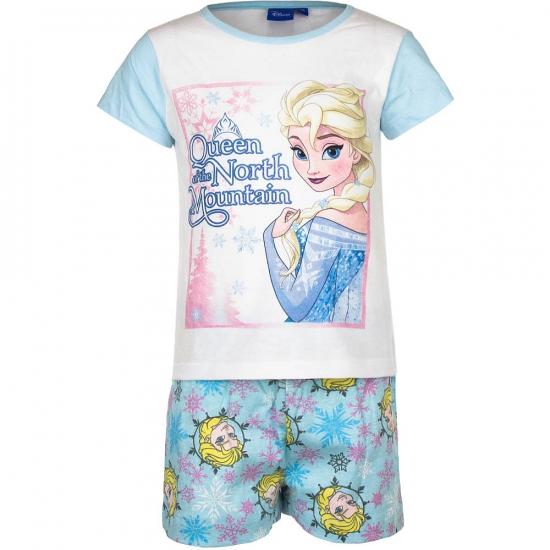 Frozen korte pyjama meisjes blauw wit