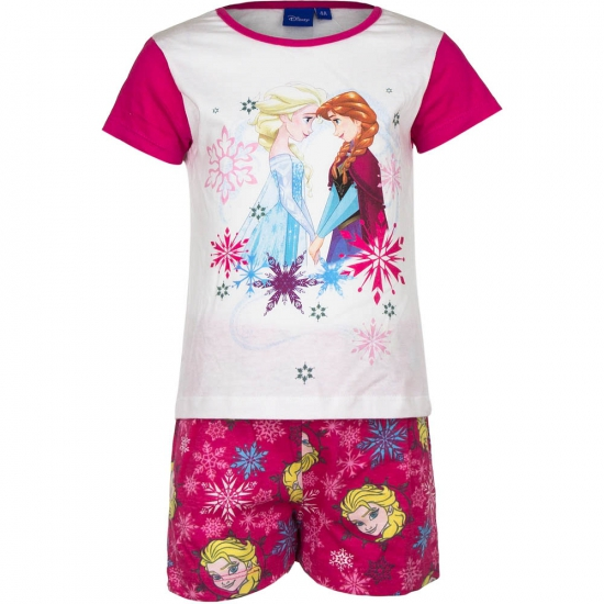 Frozen korte pyjama meisjes roze wit