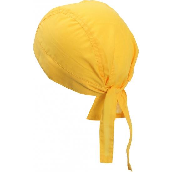 Geel kleurige bandana uni 1