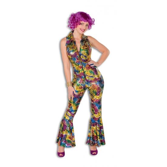 Gekleurde disco jumpsuit voor dames