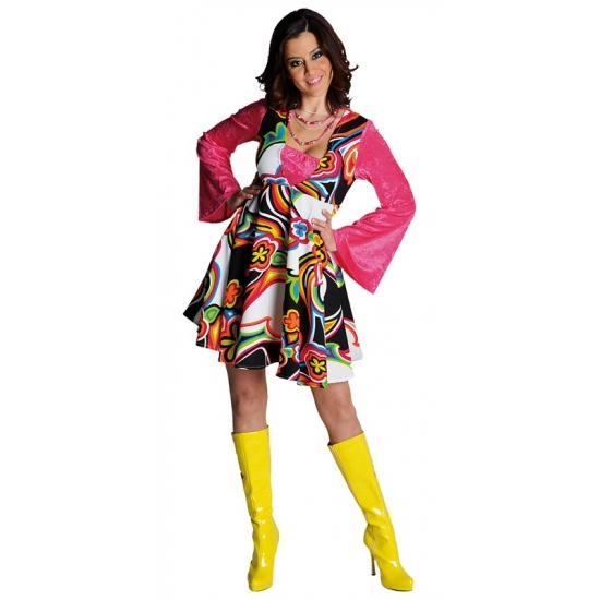 Gekleurde hippie jurk voor dames