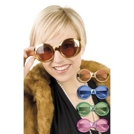 Glimmende ronde disco bril
