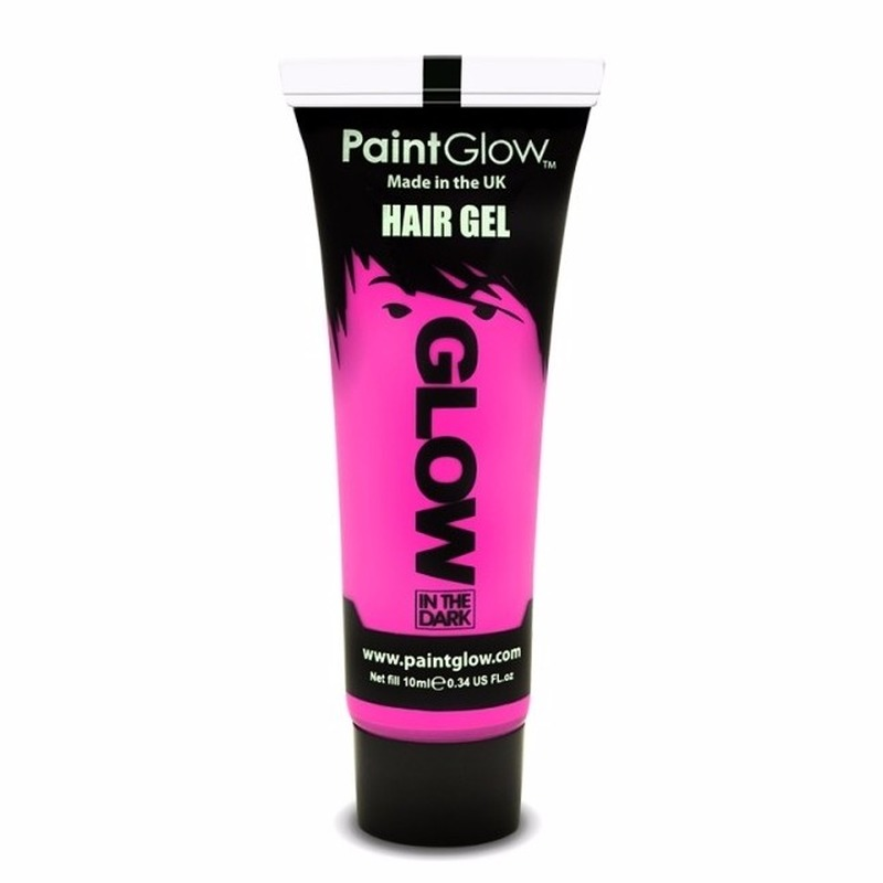 Glow in the dark haargel roze