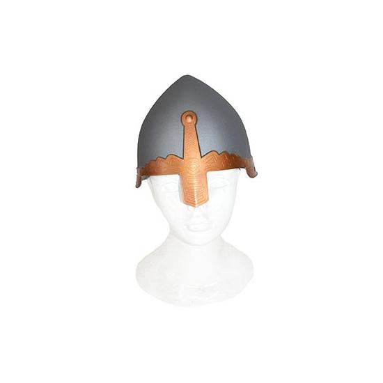 Grijze ridder helm plastic