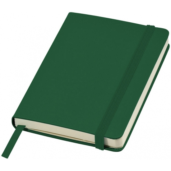 Groen pocket notitie boekje gelinieerd A6 formaat