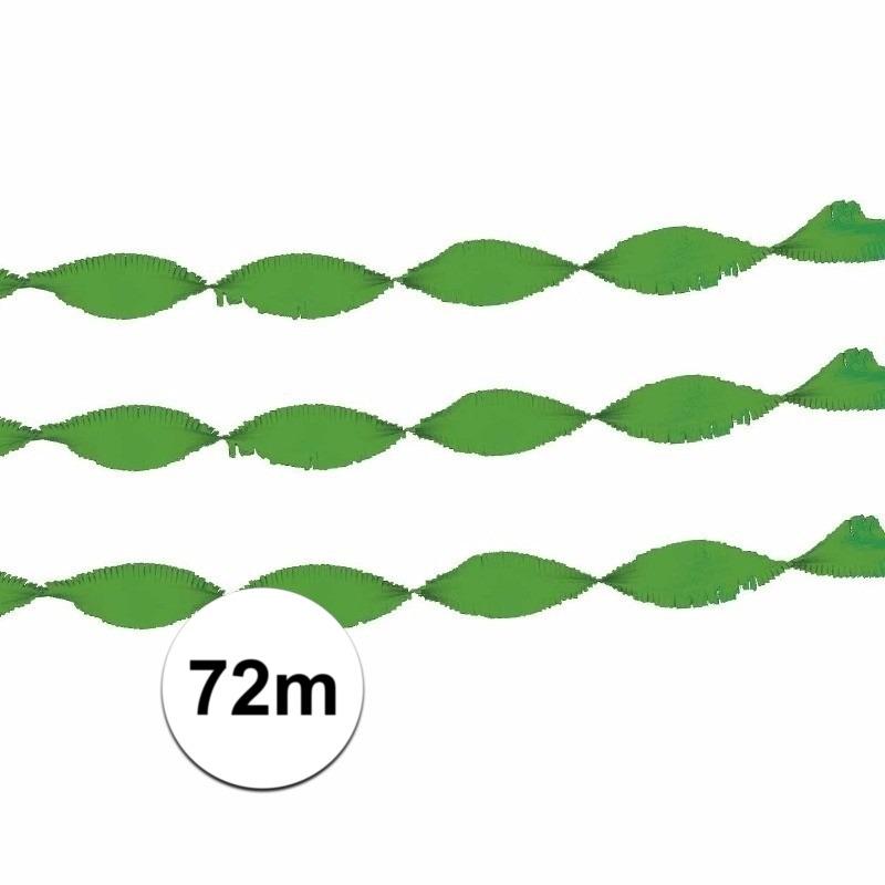 Groene crepe papier slinger 24 m