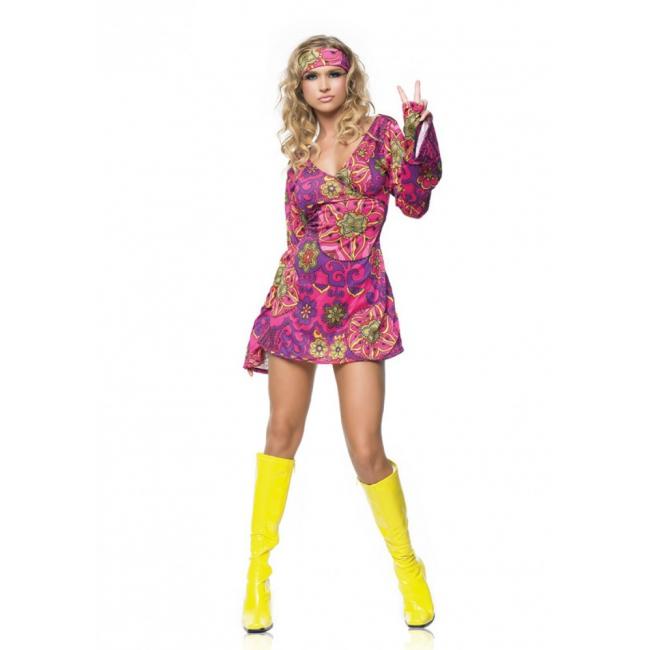 Hippie girl jurkje met haarband