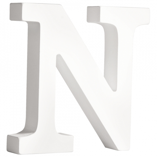 Houten letter N 11 cm