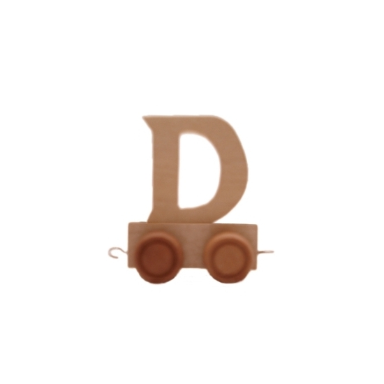 Houten letter trein D