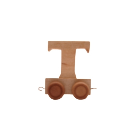 Houten letter trein T