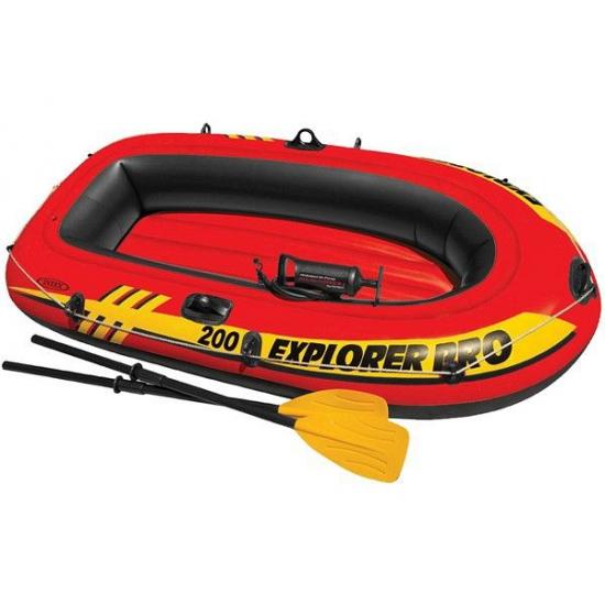 Intex opblaas boot met peddels en pomp