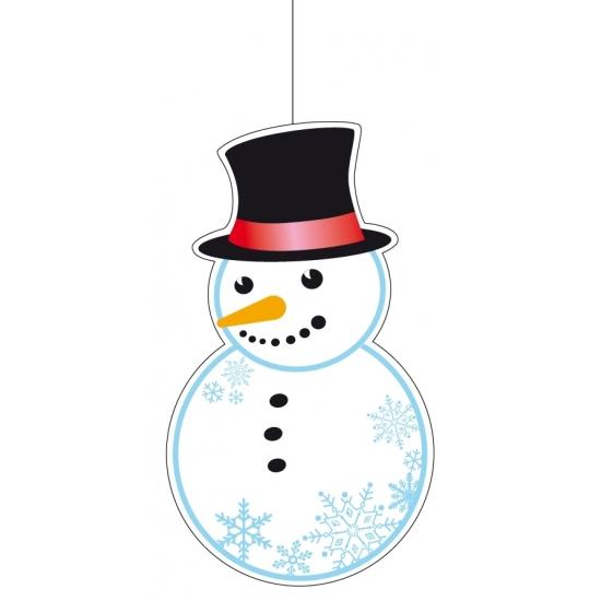 Kerst hangdecoratie sneeuwpop 41 cm