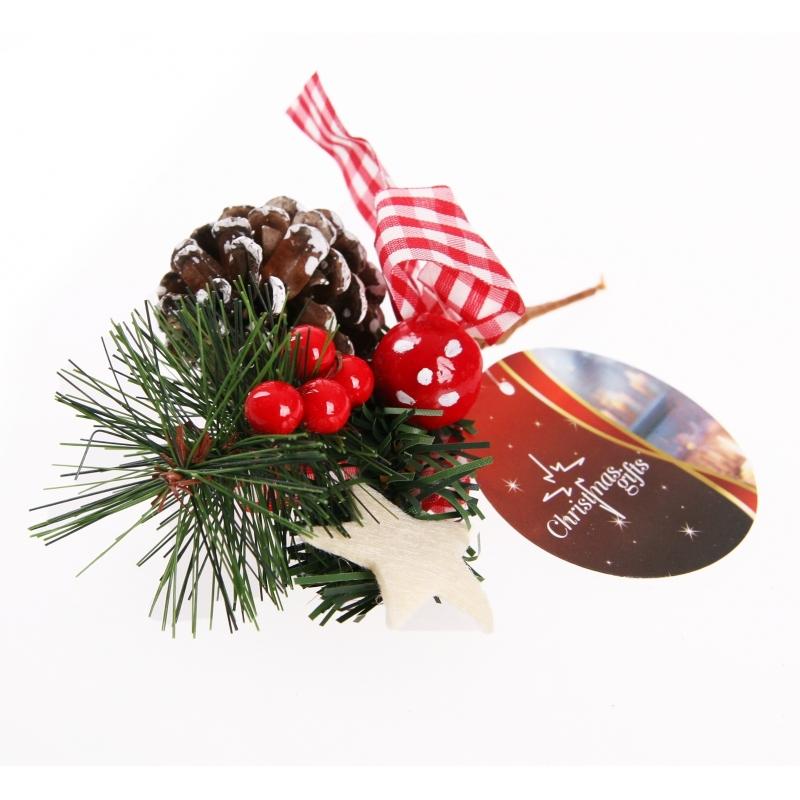 Kerst stekertje dennenappel type 6