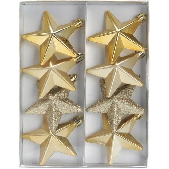 Kerstbal ster goud 6,5 cm