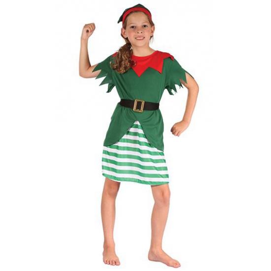 Kerstelf kostuum voor meisjes