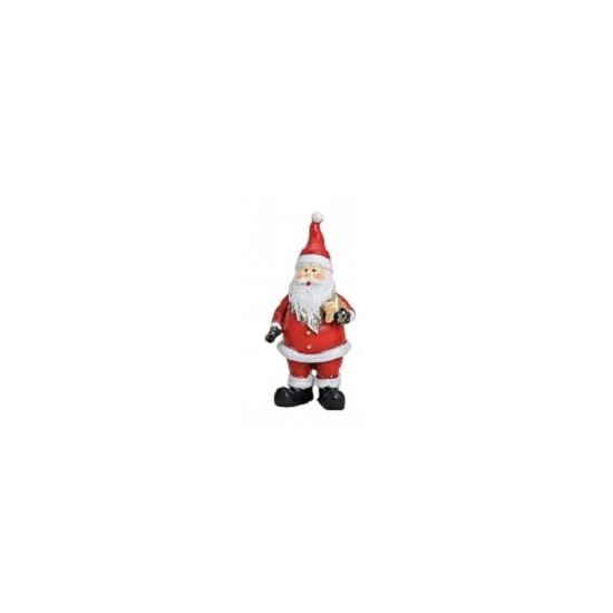 Kerstman beeldje met ster 9 cm