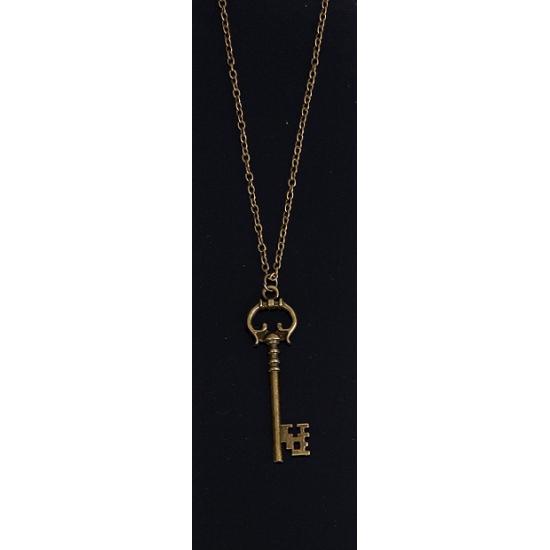 Ketting met sleutel type 2. bronskleurige ketting met een sleutel.