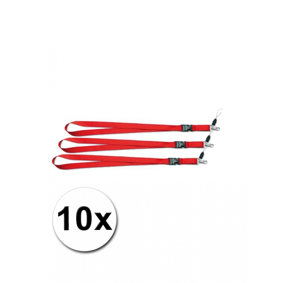 Keycords rood 10 stuks