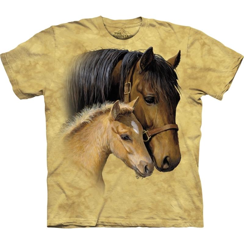 Kinder dieren T shirt Paard met veulen