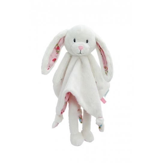 Knuffel tutteldoekje konijn roze