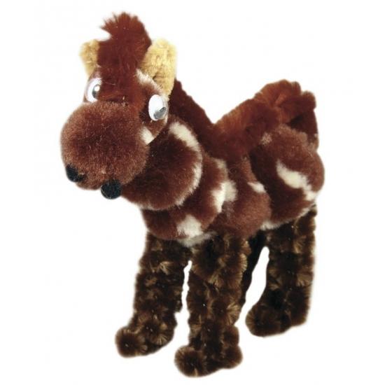 Knutselset chenilledraad paard